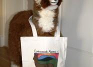 Cloth Tote Bags with Contoocook Alpaca Logo